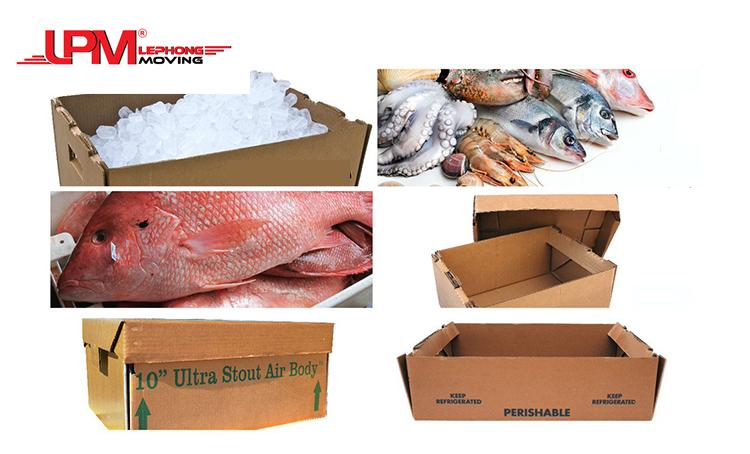 Thùng carton đựng hải sản