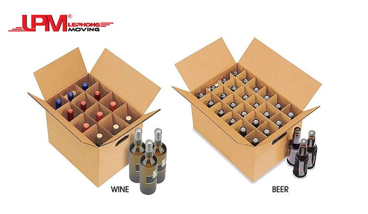 Thùng carton vách ngăn đựng rượu